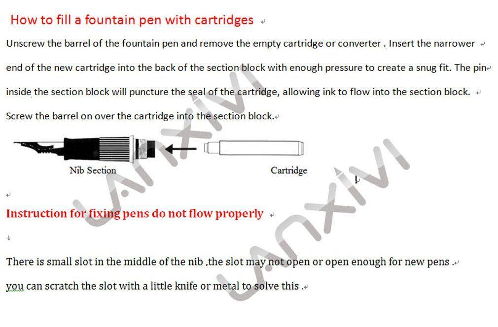 Jinhao Ink Cartridge Black For Fountain Pen International Standard Size Ink Refill Cartridges Set Of 30 Pcs You Can Get Additional De Fountain Pen Cartridge Refilling Business Writing
