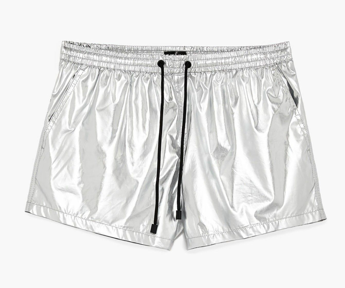 Zara metallic silver trunks