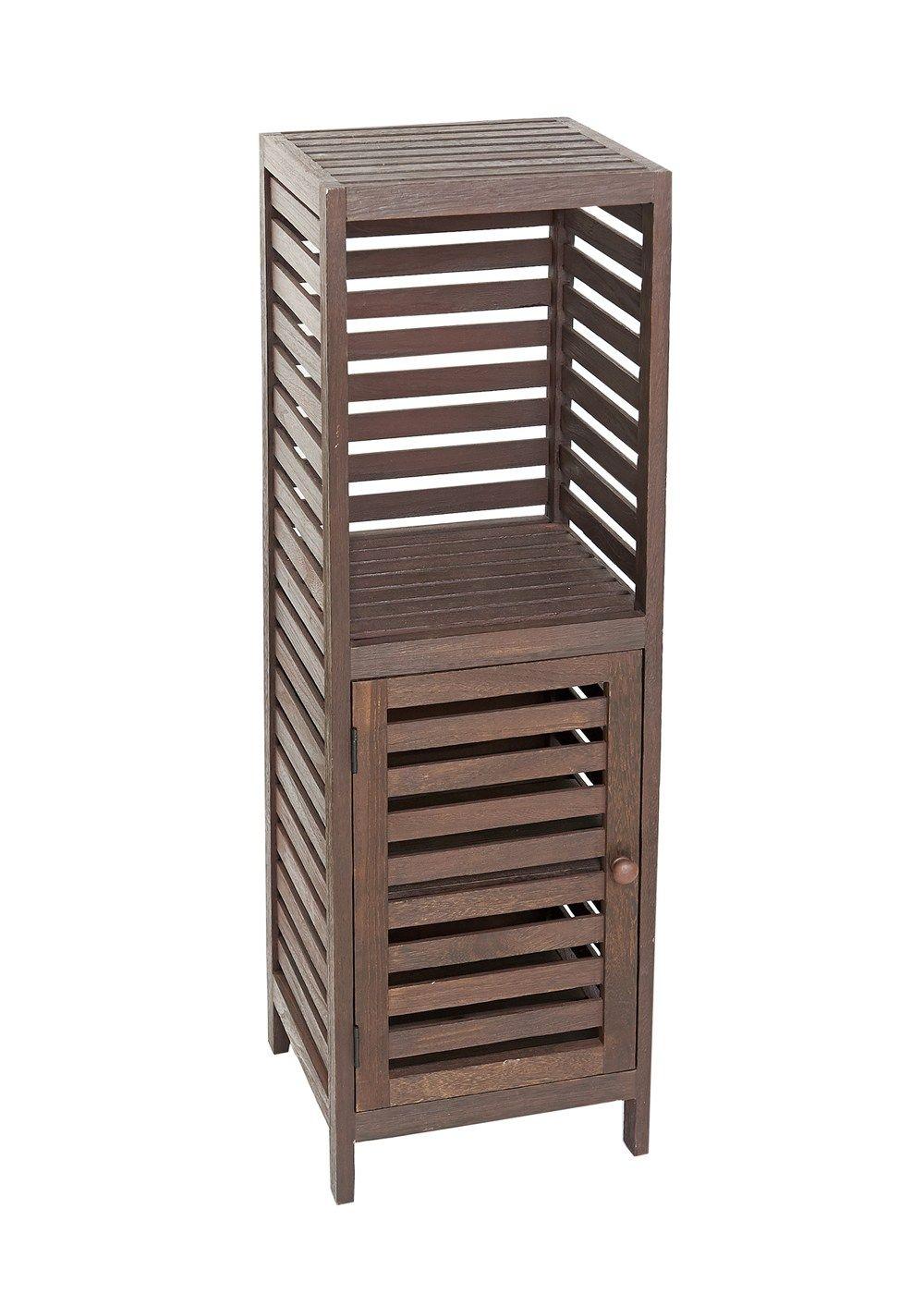 Slatted Wooden Cupboard 27 5cm X 29cm X 91cm Matalan Wooden Cupboard