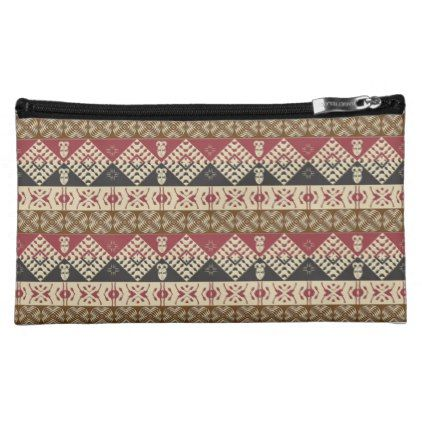 21e82aefcf91 ethnic tribal african pattern makeup bag | Zazzle.com | travel ...