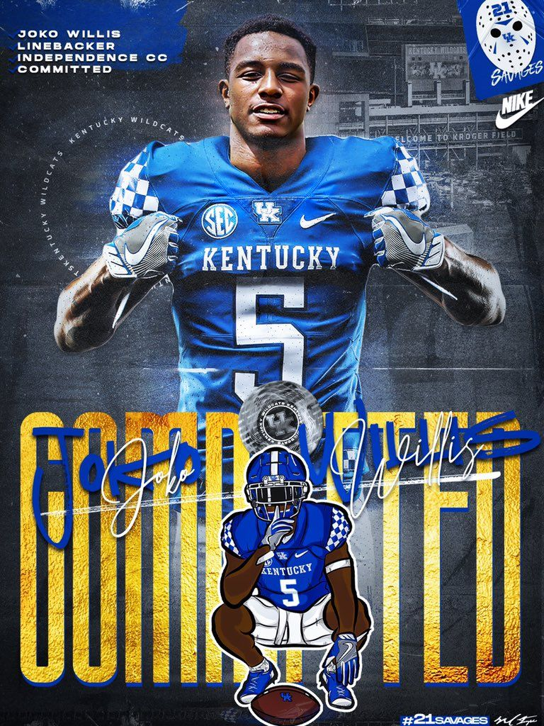 Kentucky In 2020 College Football Recruiting Football Recruiting Recruitment Poster Design