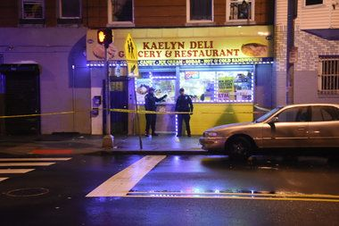 A 14-year-old boy is in critical condition following a shooting on Ocean Avenue Tuesday night, officials said.