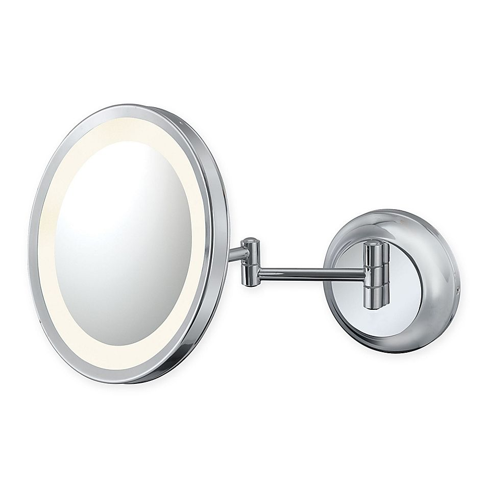 Kimball Young 5x Lighted Makeup Mirror In Chrome Makeup Mirror With Lights Lighted Wall Mirror Chrome Finish