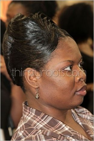 African American French Roll Hairstyle French Roll Hairstyle Roll Hairstyle Black Hair Updo Hairstyles