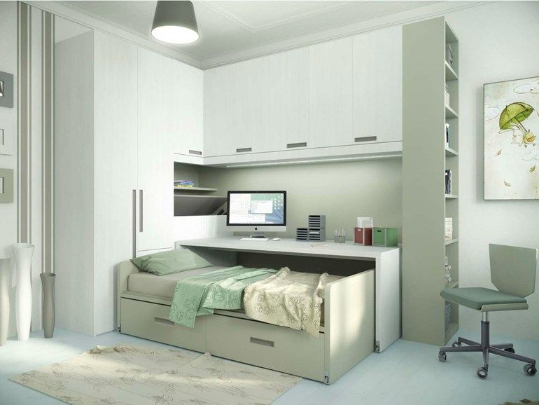 Teenage Bedroom With Bridge Wardrobe With Pull Out Bed Tiramolla 932 Tiramolla Collection By T Decoracao Quarto Pequeno Remodelacao Da Casa Decoracao De Quarto