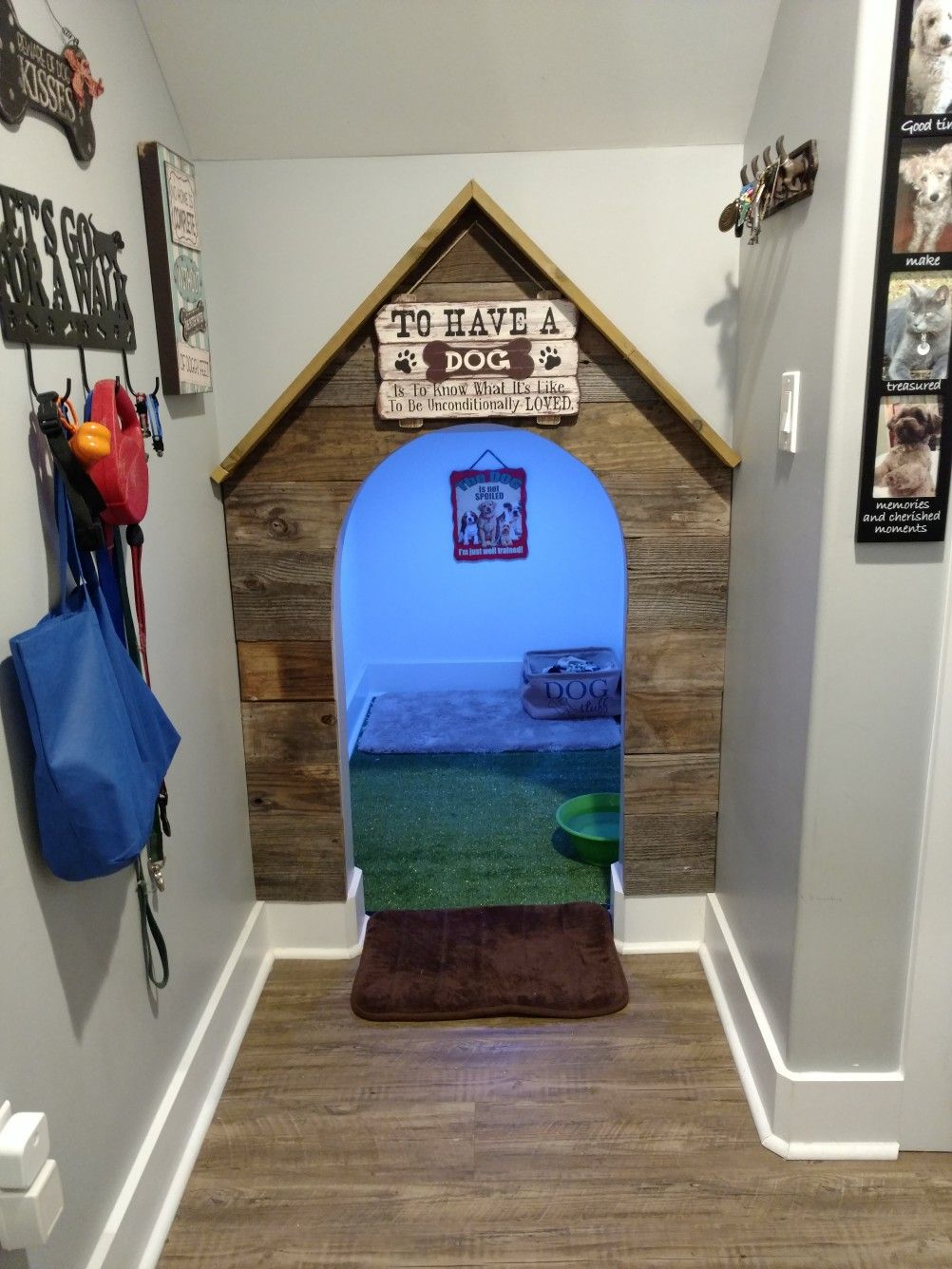 My Wonderful Husband Created Such A Cute Dog House Under The Stairs