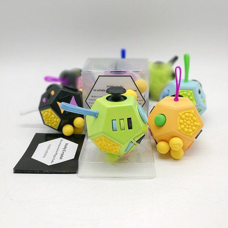 12 Sided Fidget Cube Fidget Cube Fidget Spinner Toy Spinner Toy