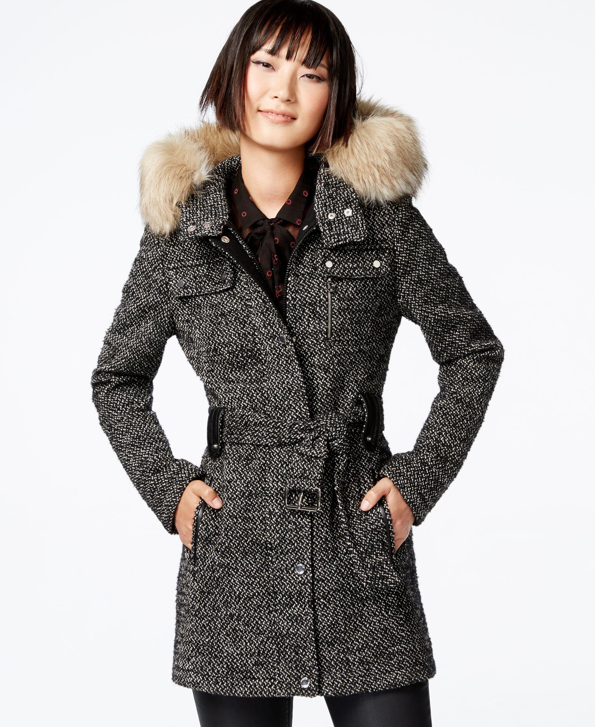 Laundry By Design Faux Fur Trim Utility Coat Coat Coats For Women Cute Coats
