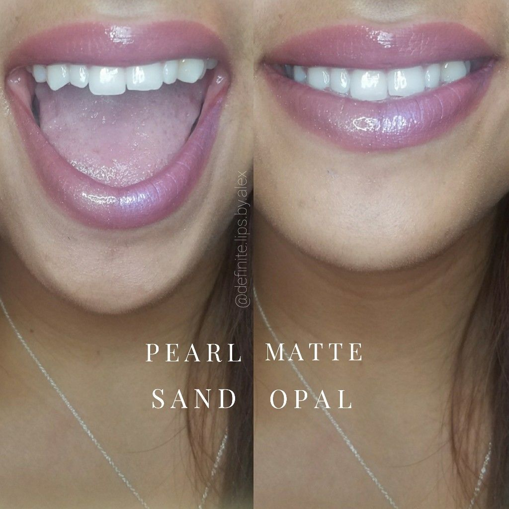 Lipsense Gloss Differences Pearl Gloss Matte Gloss Sand Gloss