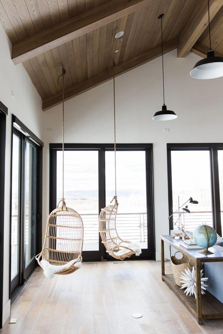 Modern Mountain Home Continued: Bonus Room | Hammock chair, Cozy and ...