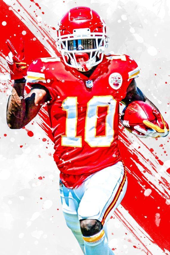 Tyreek Hill Version 2 Kansas City Chiefs Poster Print ...