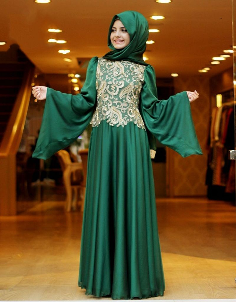 Aliexpress Com Buy Vinyl American Princess 45cm Dolls: Aliexpress.com : Buy Long Sleeve Muslim Evening Dresses