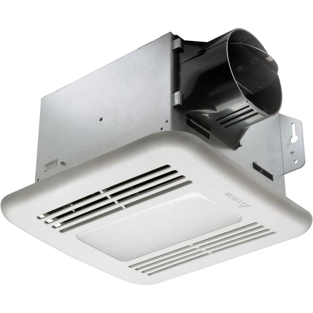 Delta Breez Greenbuilder Series 80 Cfm Ceiling Exhaust Bath Fan With Led Light White Dimmable Led Lights Humidity Sensor Bathroom Exhaust Fan