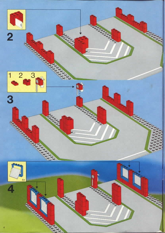 Rescue Fire House I Lego 6385 Lego Instructions Pinterest