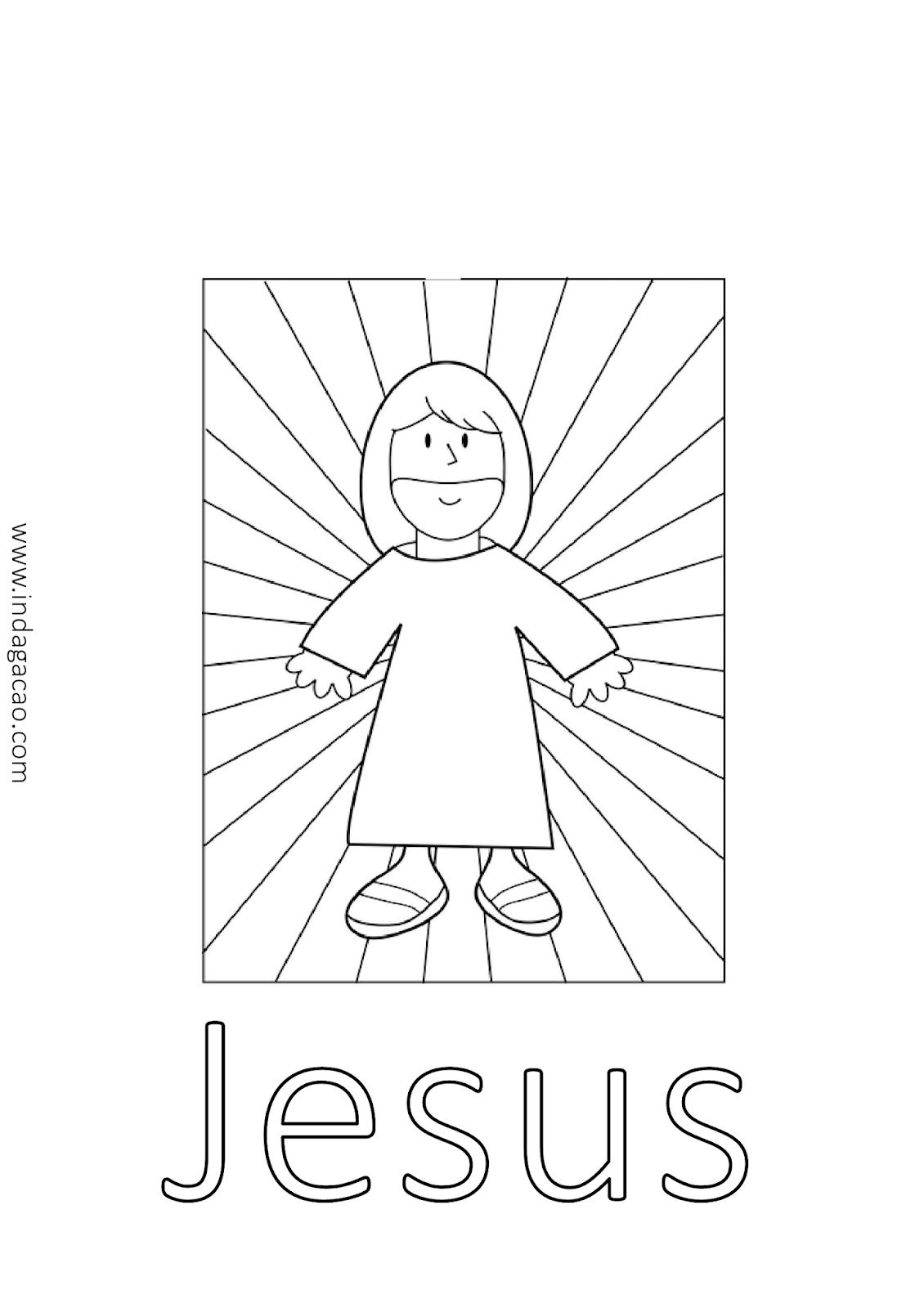 Desenho De Jesus Para Colorir Baixar Desenho Jesus Desenhos De