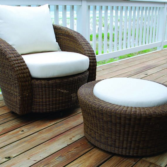 Carmel Swivel Lounge Chair Sea Salt Finish Bernstein Outdoor