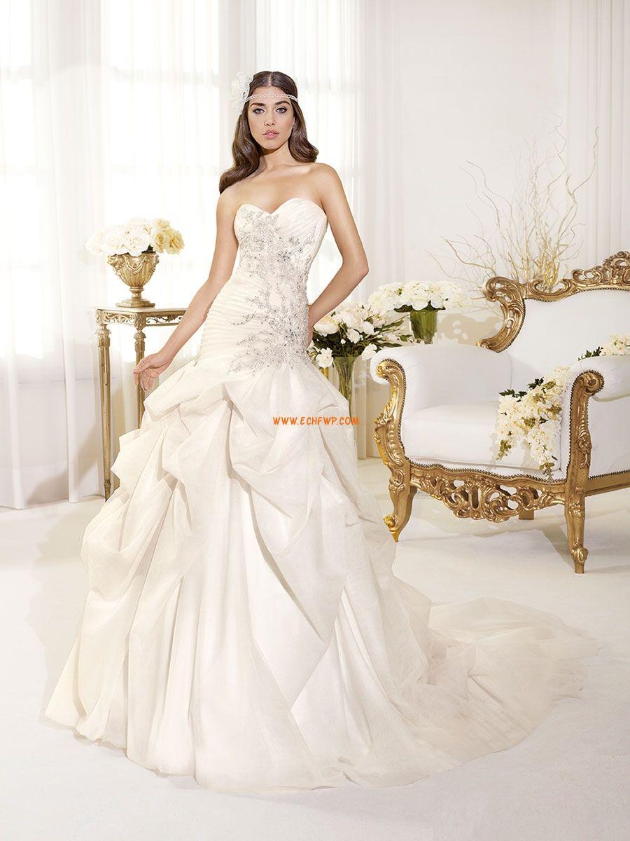 Coda a Strascico Corto Crystal dettagliare Bassa Abiti Da Sposa 2014