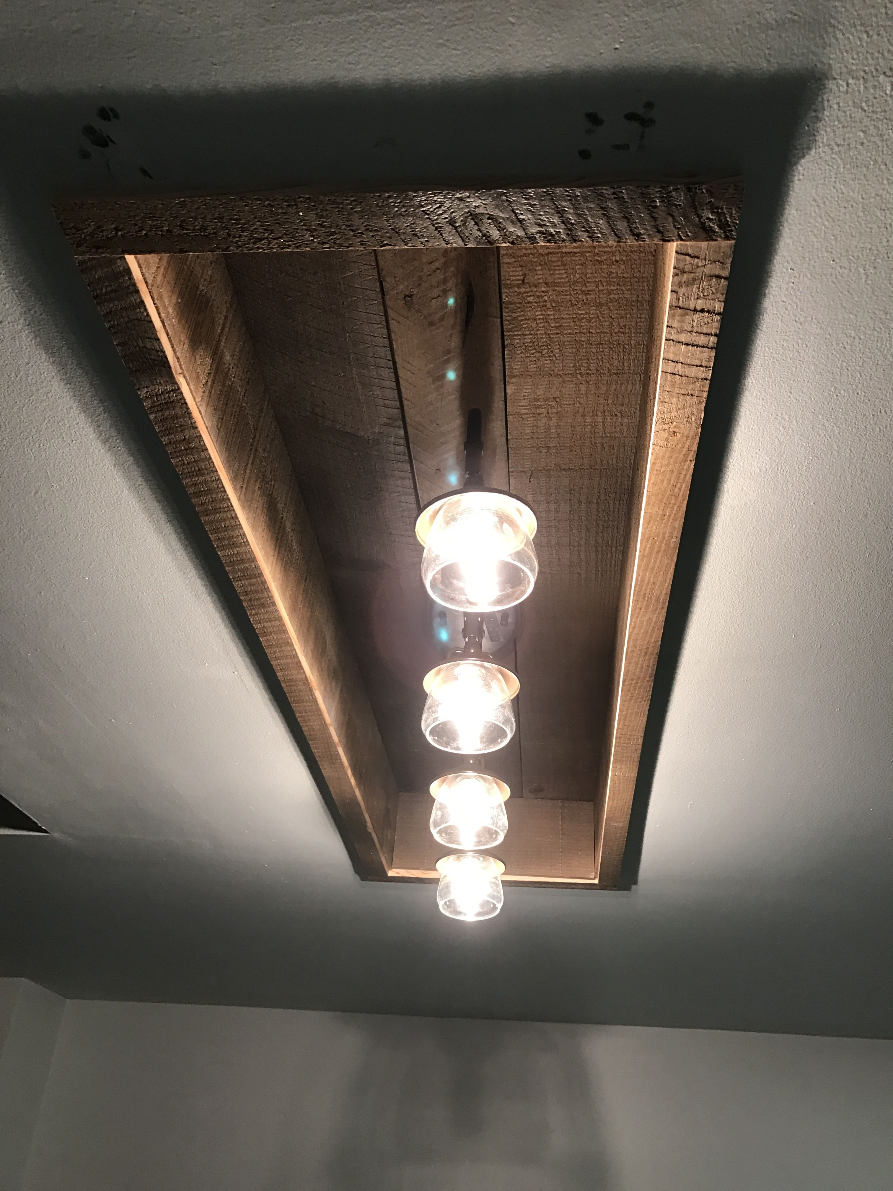 New Reclaimed Wood And Recessed Fixture