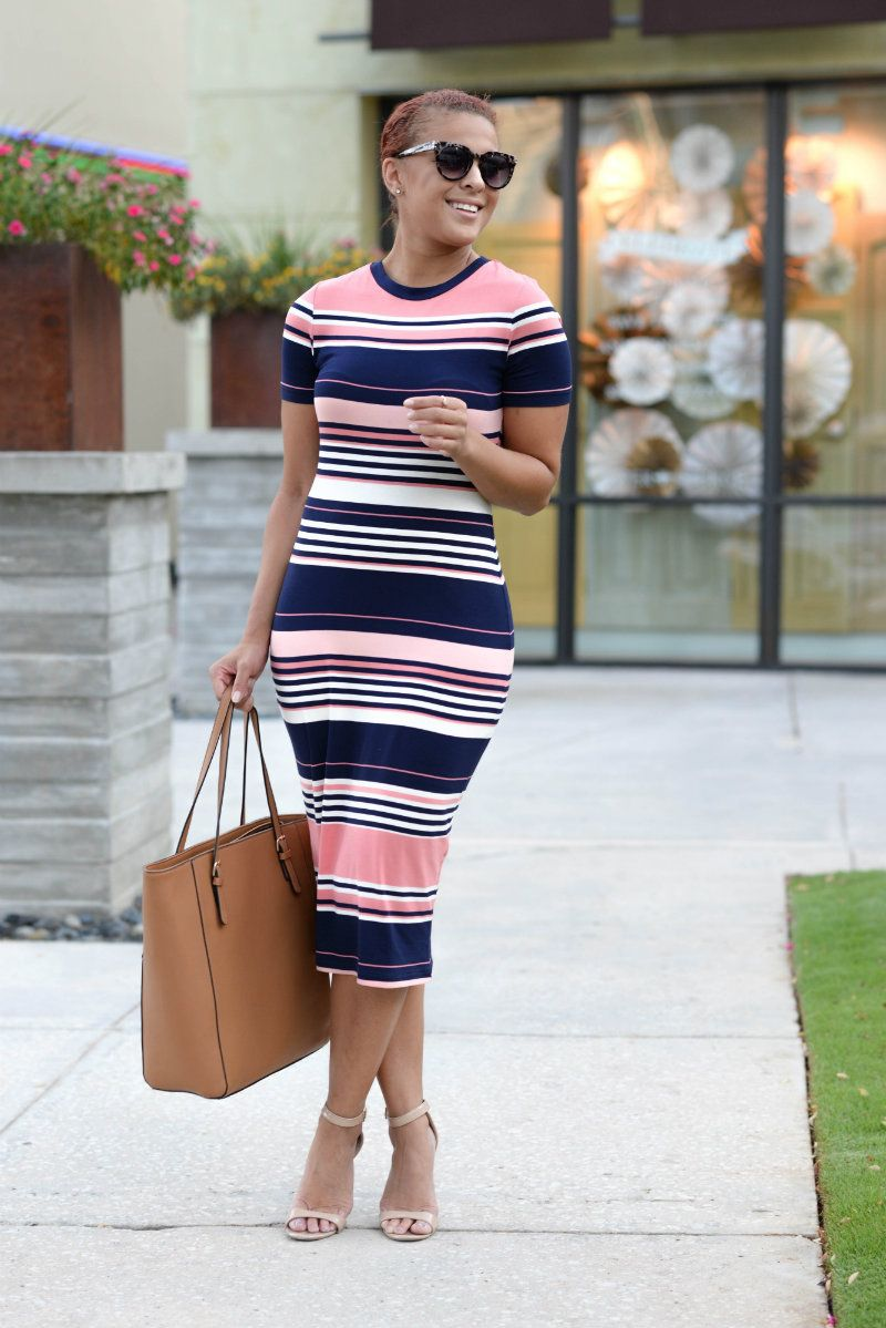 b72ff1ee95eb Pin by 👄Chelly Boo on Dress Me Up | Striped midi dress, Fashion ...