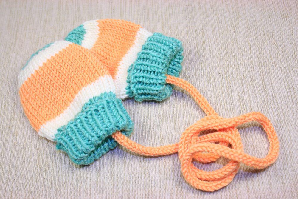 Helena Sweet Knits: Patrón gratis - Manoplas para bebé super fáciles ...