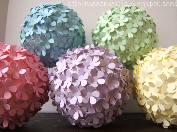 punch craft ideas paper punched flower balls diy crafts 2791