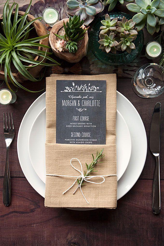 Table Setting Tips 3 Menu Napkin Folds Wedding Table Settings