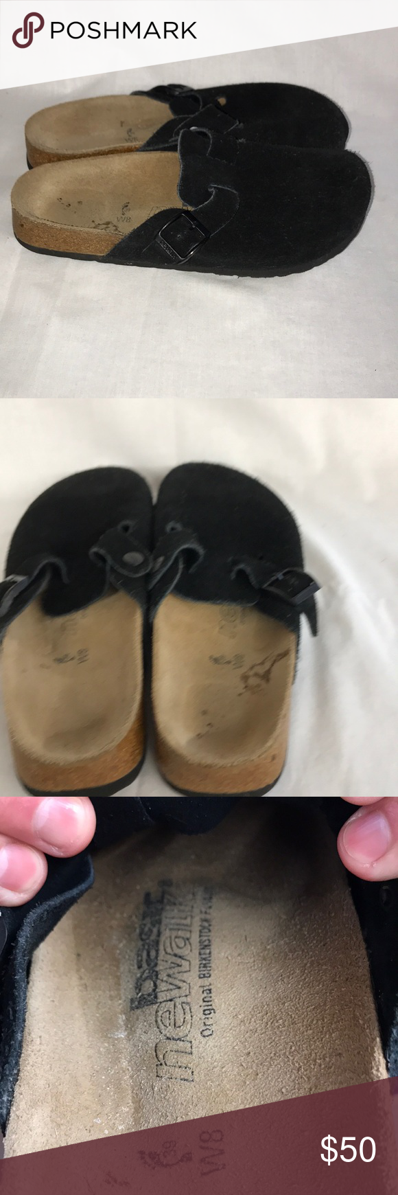 4848b907ce67 Newalk birkenstock clogs black suede birkenstocks birkenstock shoes sandals  png 580x1740 Poshmark ladies newalk birkenstock flip