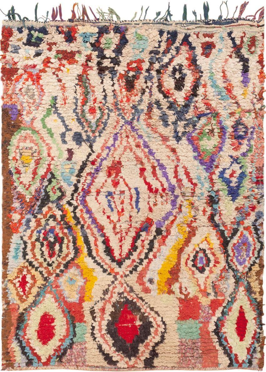 vintage moroccan rug 45837 - by nazmiyal http