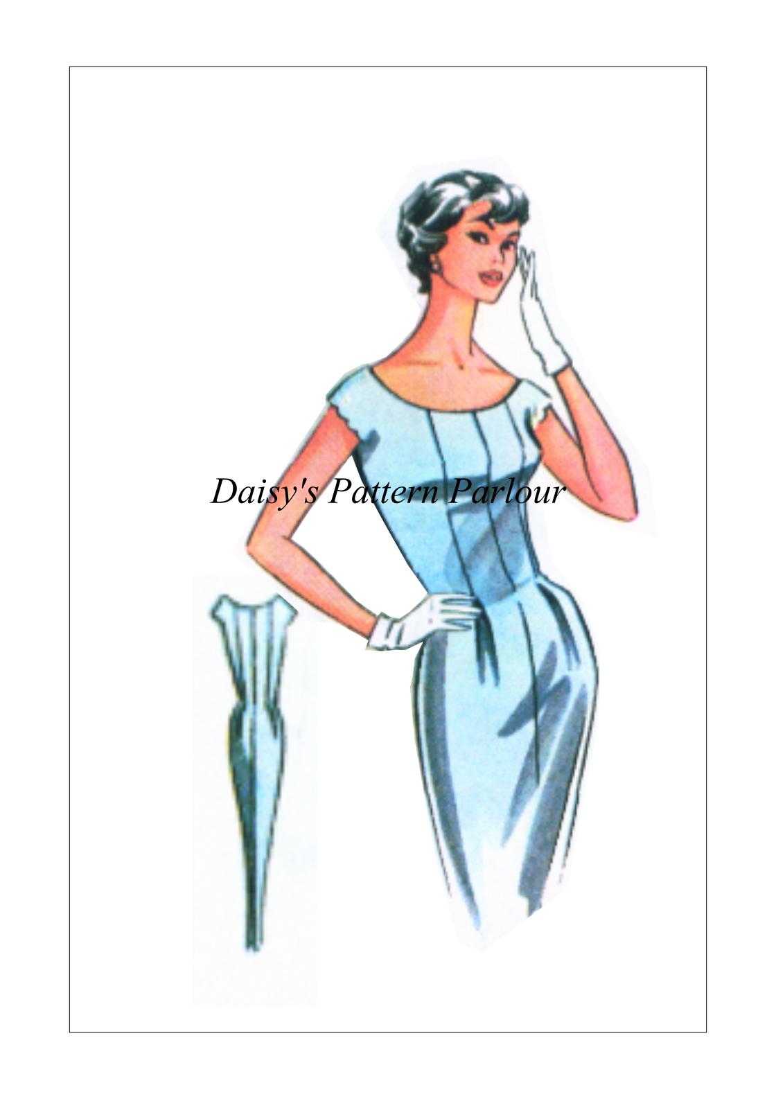 1940s Vintage Sewing Pattern Bullet Bra Wiggle Eclair Coupe Paris 1950 1940 40s