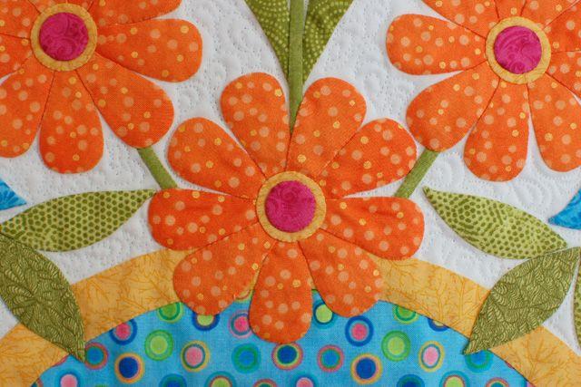 100th blog post: appliqué lesson 7: pre assemble complicated flowers