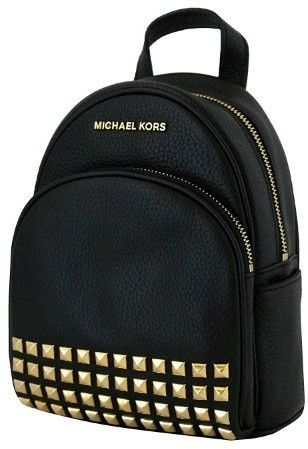 5ad297cffbcc Michael Kors Abbey Extra Small Studded Backpack In Black | my purse ...