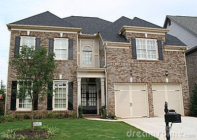 brown brick with tan accents and black shutters | New House ... on exterior brick colors for light brown, exterior paint ideas, you can stain exterior brown brick, siding with brown brick, exterior brick painting ideas,