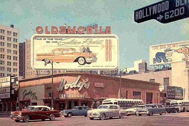 Panoramic Photograph Of The Hollywood Hotel Corner Hollywood And Highland In 2020 Vintage California Hollywood Los Angeles