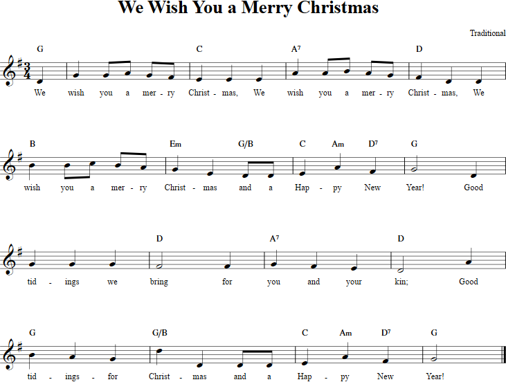 We Wish You A Merry Christmas Recorder Sheet Music Recorder Sheet Music Sheet Music Christmas Carols For Kids