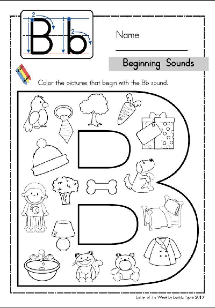 Alphabet Phonics Letter Of The Week B Alphabet