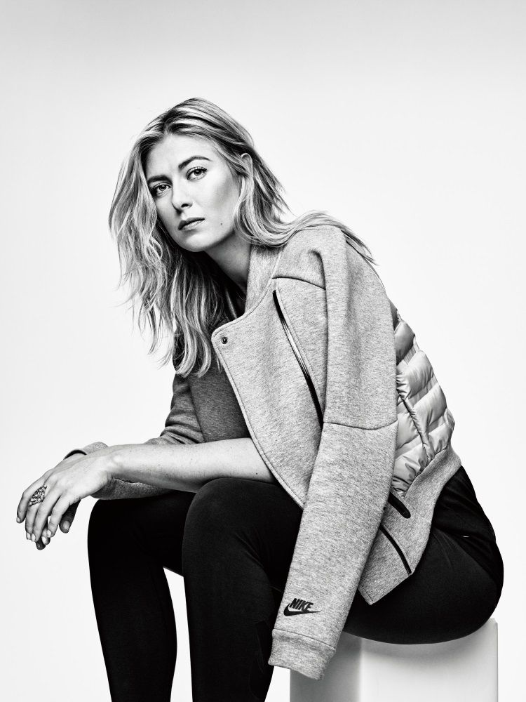 5b92b15cf6de Nike Tech Fleece Aeroloft Jacket 2015 Maria Sharapova