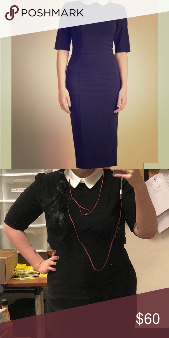 a712f5661aa Collectif Make My Wednesday Sheath Dress Maybe this little black dress  isn t distinctly macabre