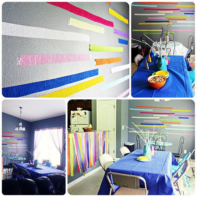 decorating with crepe paper