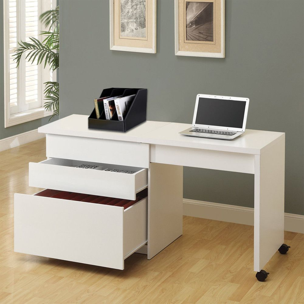 Computer Desk Cabinet Convertible Computer Desk Table Home Office Furniture Wooden