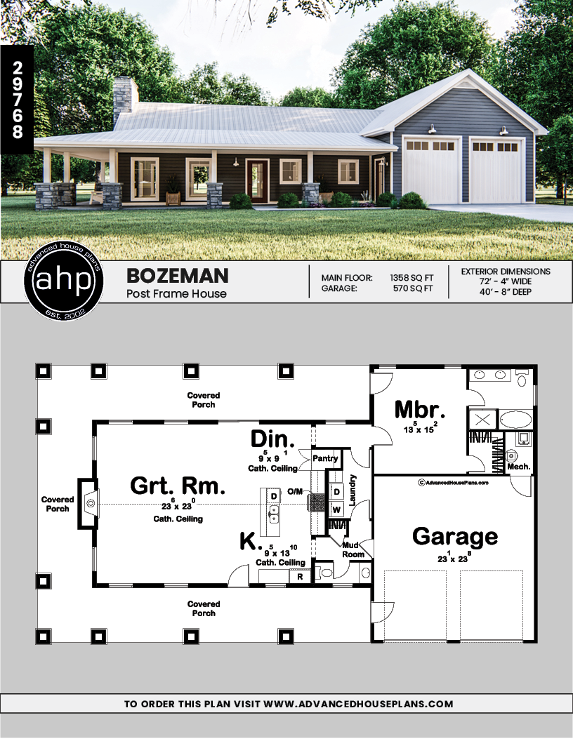 Post Frame Home Barndominium Bozeman Barn House Plans Barn Homes Floor Plans Pole Barn House Plans