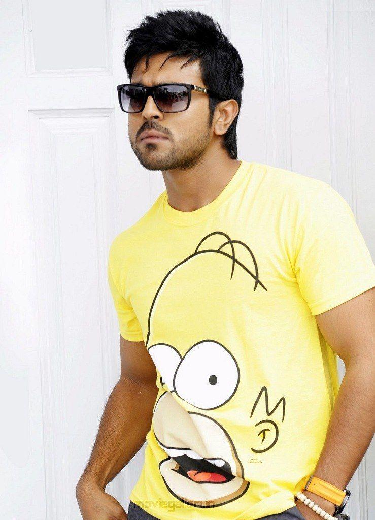 Ram Charan Teja Orange Cute Celebrities Gents Hair Style Bollywood