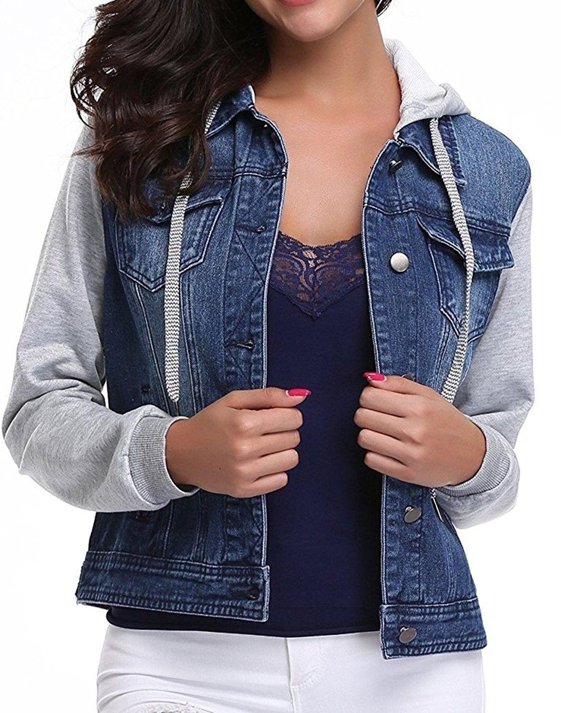Women S Clothing Coats Jackets Vests Denim Jackets Womens Washed Packets Dark Blue Hood Jacket C01867asac Denim Jacket Women Denim Jacket Womens Vest [ 1500 x 1179 Pixel ]