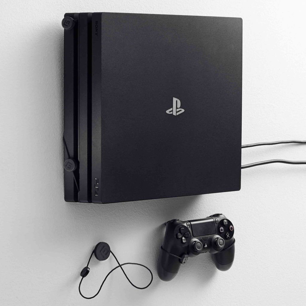 Playstation 4 Ps4 Wall Mount By Floating Grip Display Your Ps4 Ps4 Wall Mount Ps4 Playstation 4 Ps4
