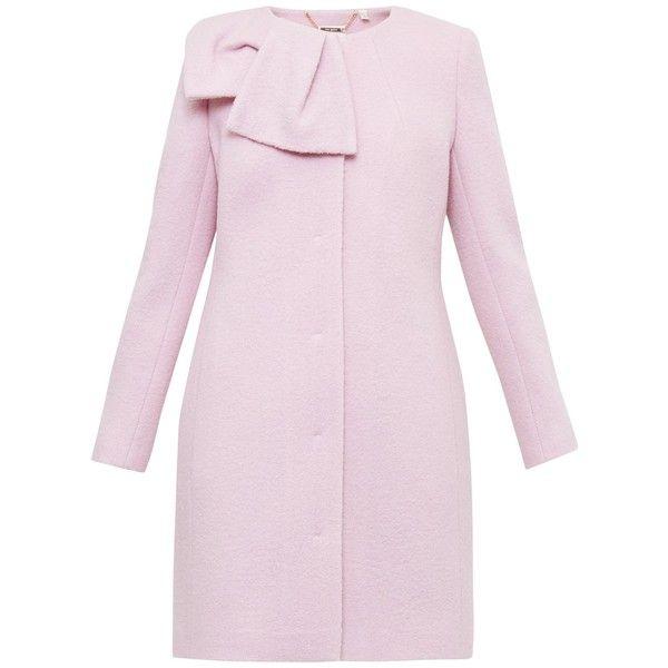 Ted Baker Ellmida Oversized Bow Coat , Nude Pink ($175) ❤ liked ...