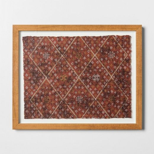 Abstract Framed Wall Art Large Red Threshold Target