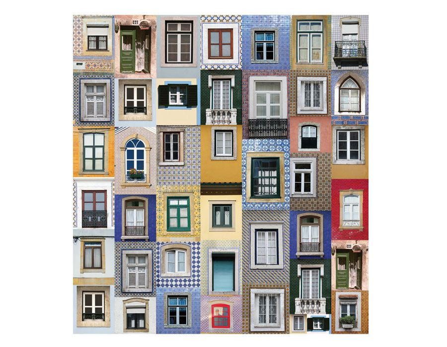 Facades Of Portugal Wallpaper With Details Of Traditional Architecture Portuguese Facades Have Us Framed Wallpaper Fantastic Wallpapers Mural Wallpaper