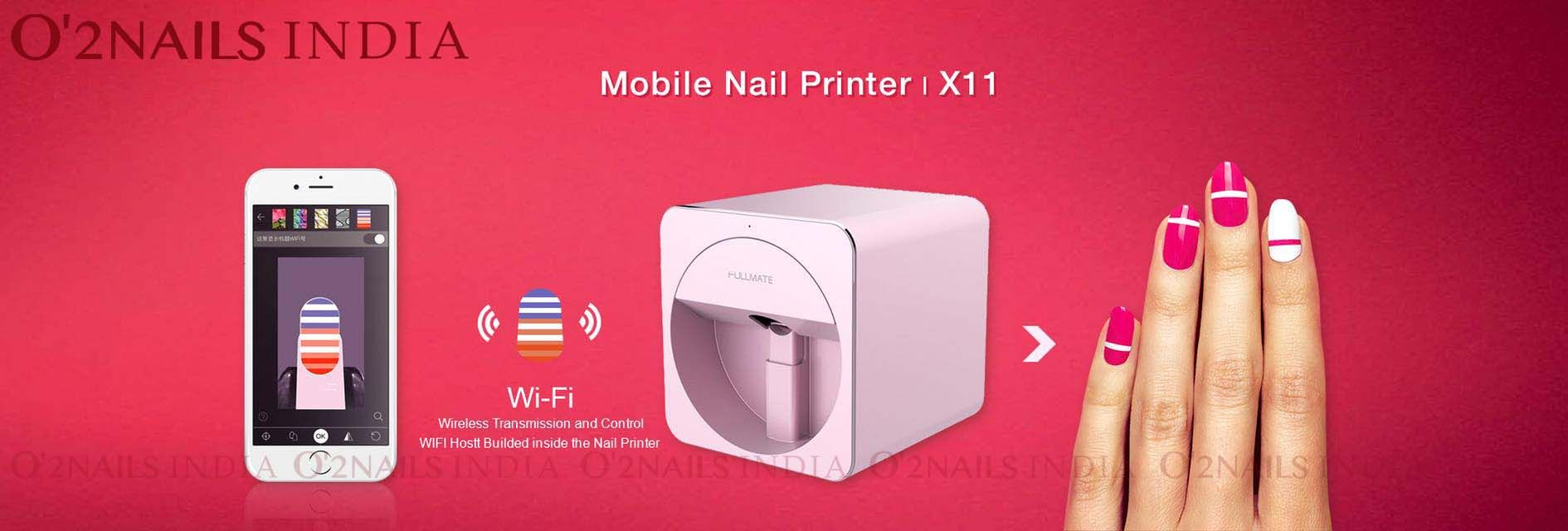 The Mobile Nail Printer X11 Is A State Of Art Machine That Prints Any Pattern