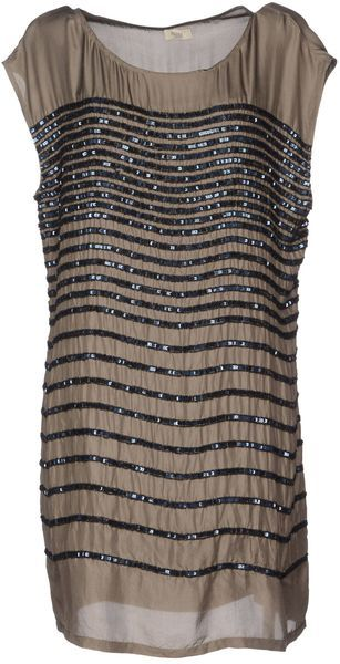 Hoss Intropia Gray Short Dress. So cute with leggings and boots I bet!