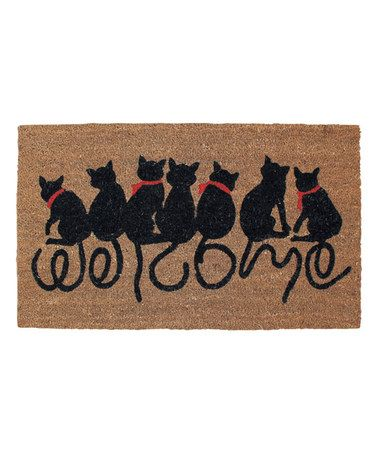 Another great find on #zulily! 'Welcome' Cats Doormat #zulilyfinds