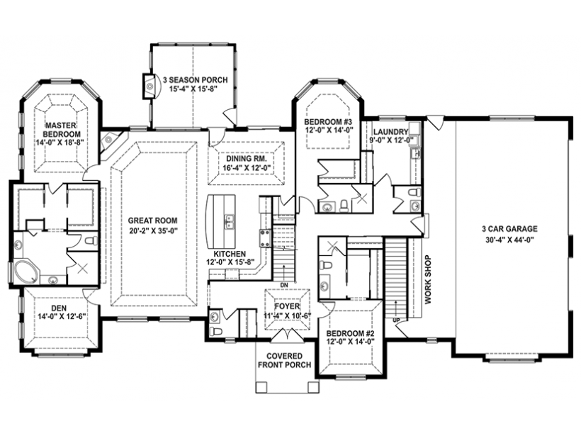 Delightful EPlans Craftsman House Plan U2013 Craftsman 1 Story Retreat, Open Floor Planu2013  3544 Square